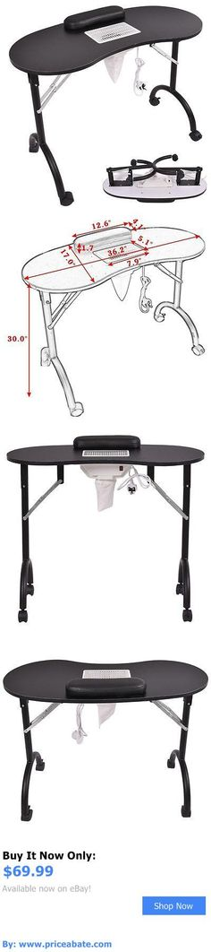 Portable nail manicure table of salon furniture salon for Fold away nail table