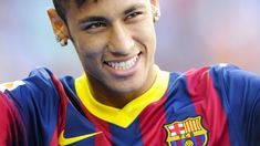 Neymar Photos - Neymar smiles during the official presentation as a new player of FC Barcelona at Camp Nou Stadium on June 2013 in Barcelona, Spain. - Neymar Unveiled as New FC Barcelona Player Neymar Barcelona, Fc Barcelona Players, Barcelona Football, Neymar Jr, Real Madrid, Football Soccer, Football Players, Soccer Guys, Soccer