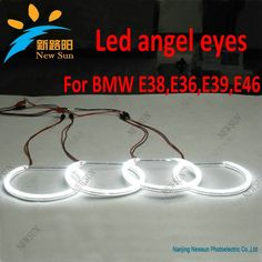 42.04$  Watch now - http://alifpx.shopchina.info/go.php?t=1129436550 - For BMW E36 E38 E39 E46 SMD led angel eyes, 3014 SMD led chip super power angel eyes led headlight for BMW 3 5 7 series, 4x131mm  #buyininternet