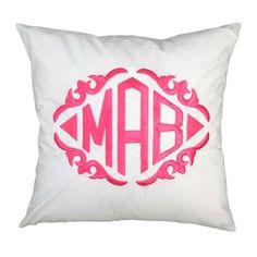 cute monogrammed throw pillow {cute on a bed}