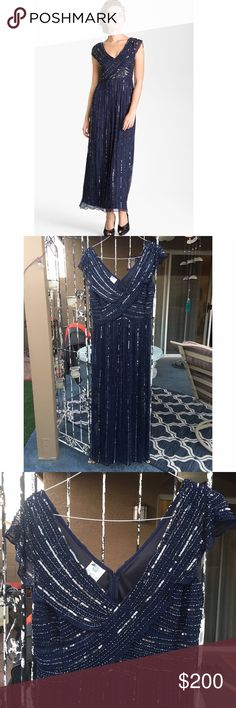 Silk and Rhinestones gown NWT stunning silk and rhinestones evening gown. Perfect for a particular occasion, wedding, prom , charity events or any other even. ❤bundle to save❤ Patra Dresses Maxi