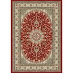 Nicholson Red/Ivory 9 ft. 2 in. x 12 ft. 10 in. Indoor Area Rug
