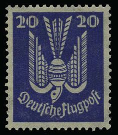 German Empire, 1923/32 Weimar Republic, Michel 346Y. 20 Pf. wood-pigeon 1924, mint never hinged stamp watermarked 2 Y (lying) . Photo expertize Peschl BPP > genuine and extremley fine <.; Michel 750, ?