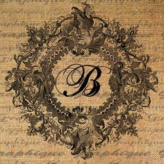 Your Custom Letter or Initial n Ornate Frame Text  by Graphique, $1.00