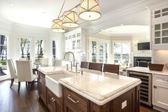 Kitchen in a Sag Harbor home