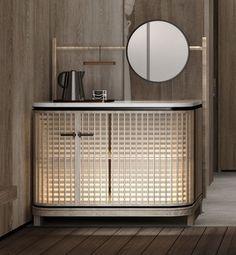 Console Cabinet, Cabinet Furniture, Sofa Furniture, Modern Furniture, Furniture Design, Sideboard, Cafe Interior, Interior And Exterior, Hotel Minibar