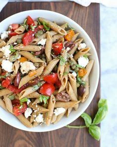 Make this Whole Wheat Greek Pasta Salad for your next potluck.
