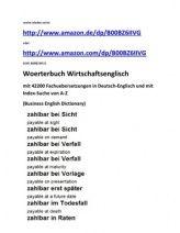 business english vokabeln lernen (Wirtschaftsenglisch deutsch-englisch fachausdruecke)