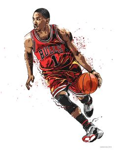Personal Illustrations of NBA players.