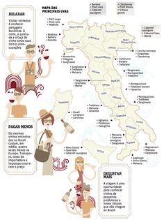 Vinhos e Mais Vinhos: Mapa Enoturístico da Itália, a meca do enoturismo!
