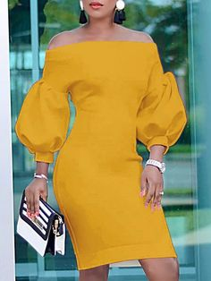 Puff Sleeve Off Shoulder Bodycon Dress We Miss Moda is a leading Women's Clothing Store. Offering the newest Fashion and Trending Styles. African Fashion Designers, African Men Fashion, African Fashion Dresses, African Dress, Fashion Outfits, Womens Fashion, Fashion Tips, Africa Fashion, African Style