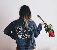 Not your babe denim jacket