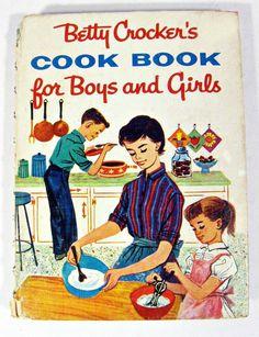 vintage cookbook - Betty Crocker's Cookbook for Boys and Girls - 1957 by forrestinavintage on Etsy