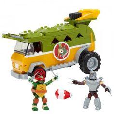 Mega Bloks Teenage Mutant Ninja Turtles Party Wagon Classic TMNT Nickelodeon