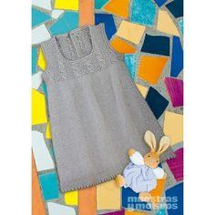 Vestido tejido a tricot para bebé Tricot Baby, Baby Knitting, Knit Crochet, Children, Tees, Women, Babies, Fashion, Girls Dresses