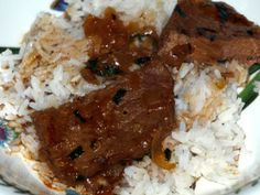 RICE & GRAVY: Smothered round steak, for rice and gravy Creole Recipes, Cajun Recipes, Entree Recipes, Pork Recipes, Cooking Recipes, Fish Recipes, Cooking Tips, Dinner Recipes, Yummy Recipes