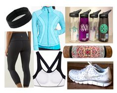 """""""Workout wear"""" by meredithe ❤ liked on Polyvore featuring Beats by Dr. Dre, Zella, NIKE, Victoria's Secret, CamelBak, lululemon and Ofantique"""