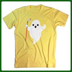 Hockey Tshirt Short Sleeve Hockey Ghost T-Shirt | Hockey Tees by ChalkTalkSPORTS | Yellow | Adult X-Large - Sports shirts (*Amazon Partner-Link)