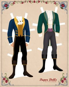 Adam Paper doll | Disney's Beauty and the Beast Printables, Coloring Pages and Activities | SKGaleana