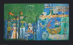 Friedensreich+Hundertwasser+-+Paradies+-+Land+der+Menschen,+Vögel+und+Schiffe