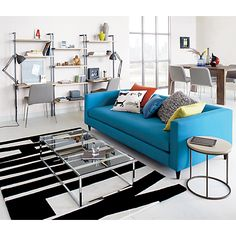family black and white rug in rugs | CB2