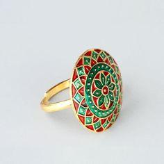 Meenakari Floral Ring / Rs.800