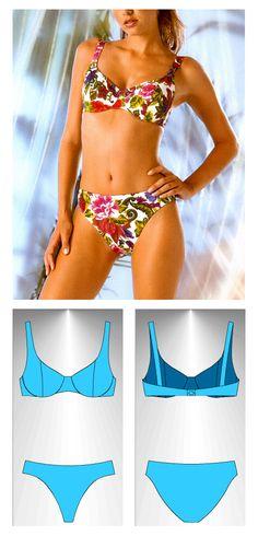 Bikini sewing pattern Ceilan - Patrón de bikini Ceilán