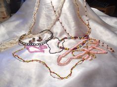 Seed Bead Costume Jewelry Lot Some Vintage-Necklaces, Bracelets, Ring, Earrings  #ASSORTED #ASSORTED