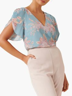Wrap Blouse, Saree Blouse, Petal Sleeve, Types Of Sleeves, Sleeve Types, Forever New, Tailored Trousers, Weekend Wear, Shirt Sleeves