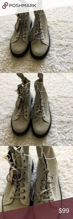 NWT Doc Martens mens boots NWT Doc Martens Talib mens boots ankle high lace up light gray suede . Size 10M Dr Martens Shoes