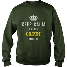 KEEP CALM AND LET CAPRI HANDLE IT #gift #ideas #Popular #Everything #Videos #Shop #Animals #pets #Architecture #Art #Cars #motorcycles #Celebrities #DIY #crafts #Design #Education #Entertainment #Food #drink #Gardening #Geek #Hair #beauty #Health #fitness #History #Holidays #events #Home decor #Humor #Illustrations #posters #Kids #parenting #Men #Outdoors #Photography #Products #Quotes #Science #nature #Sports #Tattoos #Technology #Travel #Weddings #Women