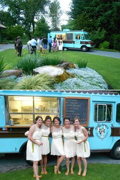 Great idea, like the truck and the bridesmaid's dresses.