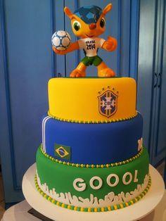 Brasil – Copa do Mundo – Bolos e Cupcakes – Sugestões – Inspire sua Festa ®