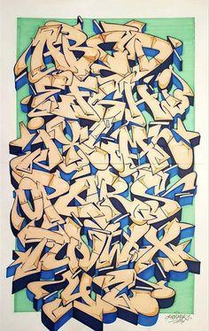 Graffiti Lettering Alphabet, Graffiti Writing, Graffiti Font, Graffiti Designs, Graffiti Tagging, Character Street Art, Tag Street Art, Letras Tattoo, Graffiti Piece