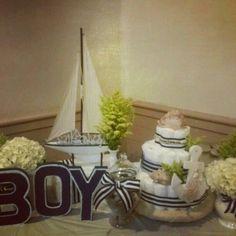 Nautical baby boy shower