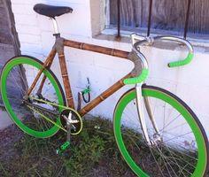 Sweet bamboo track bike!