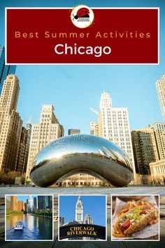 These are the best things to do in Chicago in the summer including taking a Chicago architecture boat tour, visiting the best Lake Michigan beaches, cheering for the Chicago Cubs, eating a Chicago dog and other Chicago eats, shopping at a Chicago farmers market, scouting for the best Chicago murals, and more. What is on your Chicago summer bucket list? #chicago #illinois #mwtravel #us #usa Usa Travel Guide, Travel Usa, Travel Guides, Travel Tips, Budget Travel, Chicago Riverwalk, Chicago Illinois, Chicago Cubs, Lake Michigan Beaches