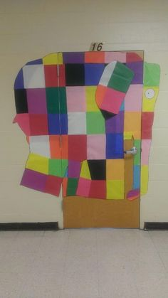Elmer the Elephant Door Decoration