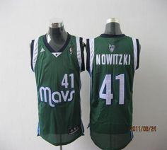 8d79dcc1ddf Mavericks  41 Dirk Nowitzki Revolution 30 Green Stitched NBA Jersey Shawn  Marion