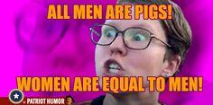 Today's Feminism---enjoy your hypocracy!