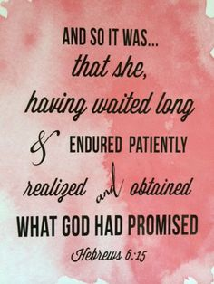 Be patient - Trust God