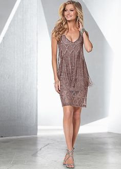 I'm getting it if you don't! Sparkle fringe dress, strappy heel in the VENUS Line of Dresses for Women