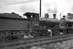 ScR 57608 at Carstairs August 1951 by John Wiltshire Steam Railway, British Rail, Steam Engine, Steam Locomotive, Great Britain, Diesel, Engineering, Steamers, British Style