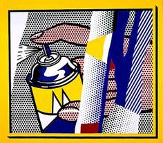 Roy Lichtenstein - Reflections Spray II (1988)