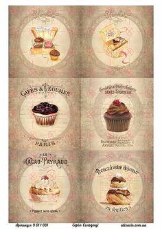 Картинки для декупажа с сладостями 9011001