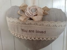 Linen you are loved heart