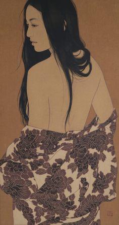 Risultati immagini per ikenaga yasunari Japanese Illustration, Botanical Illustration, Japanese Prints, Japanese Art, Sumi Ink, Fashion Painting, Woodblock Print, Asian Art, Art Reference