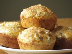 Savory Breakfast Muffins - A healthy sausage, egg, & cheese muffin to go. This is my husband's favorite!