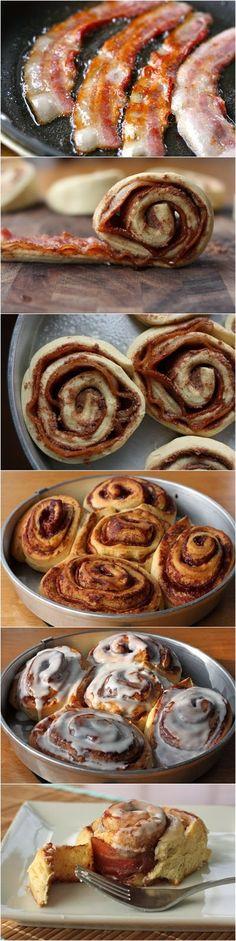 cinnamon rolls, food