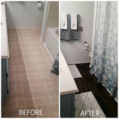 Hometalk :: Peel and Stick Tile Strikes Again!